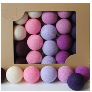 Zestaw 10 kul COTTON BALLS kolor DARK BERRY