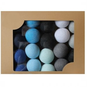 Zestaw 10 kul COTTON BALLS kolor BLACKNESS BLUE