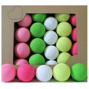 Zestaw 10 kul COTTON BALLS kolor CANDY