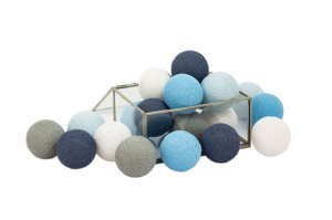Zestaw 10 kul COTTON BALLS kolor BLUE WIND