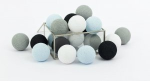 Zestaw 10 kul COTTON BALLS kolor BLUE DREAM