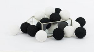 Zestaw 10 kul COTTON BALLS kolor BLACK + WHITE